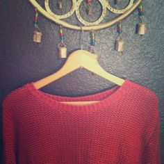 Cranberry Red Comfy oversized sweater Great condition , fits a little baggy . Perfect over a flannel ,  with some skinny jeans and tall boots . Cherokee Sweaters