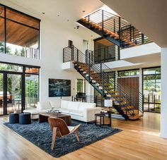 Music Box Residence by Scott Edwards Architecture Located in Portland Oregon Pete Eckert - Architecture and Home Decor - Bedroom - Bathroom - Kitchen And Living Room Interior Design Decorating Ideas - Modern Interior Design, Interior Design Inspiration, Interior Architecture, Design Ideas, Design Interiors, Modern Interiors, Residential Architecture, Landscape Architecture, Level Homes