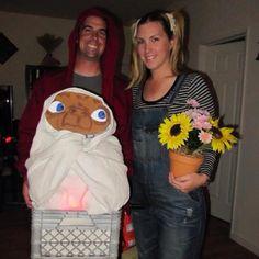 Homemade Halloween costume 2011: Elliot, ET and Gertie