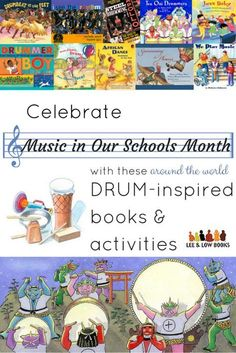 Celebrate Music in Our Schools Month with Drum-Inspired Books Preschool Music, Music Activities, Teaching Music, Holiday Activities, Classroom Activities, Bucket Drumming, Elementary Music Lessons, African Dance, Drum Music