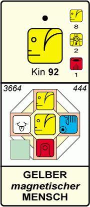 KIN 92 - Gelber Magnetischer Mensch- Energiekalender Johann Kössner