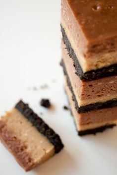Nutella Peanut Butter Cheesecake Bars from #CanYouStayForDinner - I so want these.