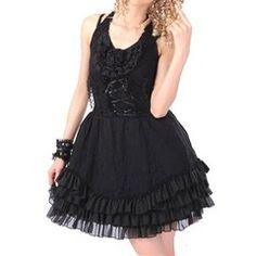 Robe gothique noire Obscur Love