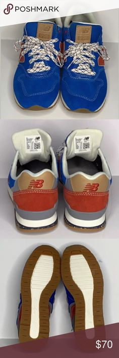 New Balance 996 Blue Suede MRL996AT EU 38.5 NWOB New Balance 996 Running  Shoes Blue Suede Red Gray Tan White Accents MRL996AT Men s Sz 6 Women s Sz  7.5 8 EU ... c0bcdb811