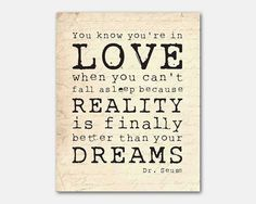 dr seuss you know you're in love quote - Google Search