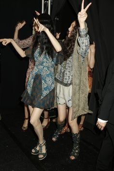 Backstage at Anna Sui RTW Spring 2014