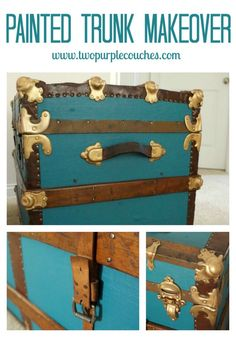 1000 ideas about old trunk redo on pinterest steamer - How to paint an old trunk ...