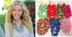Addison Chunky 3 Strand Faceted Bead Necklace-New FALL Colors! | Jane