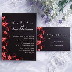 Blooming Passion Wedding Invitation IWI118