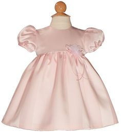 Baby Girl's Pink Satin Dress – Size 12 Months « Clothing Impulse