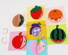 [과일 속 맞추기 책 DIY (★ 6과일)] Food Crafts, Diy And Crafts, Arts And Crafts, Summer Crafts For Kids, Summer Kids, Diy Bebe, Felt Quiet Books, Kindergarten Art, Toddler Books