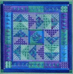 As promised last week, I've got a new pattern to share with you called HOLIDAY ORNAMENTS SERIES 2 . Here's what the four new quilt-y ornamen. Bargello Needlepoint, Needlepoint Stitches, Needlework, American Quilt, Needlepoint Patterns, Bargello Patterns, Canvas Designs, Couture, Holiday Ornaments