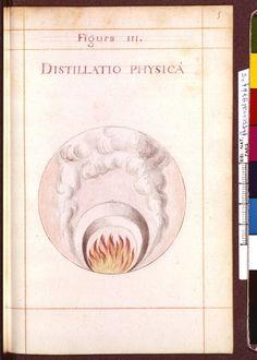 Figura III - Distillatio physics - Sapientia veterum philosophorum, sive doctrina eorumdem de summa et universali medicina 40 hierogliphis explicata