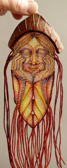 Agnes Herczeg needle weaving/lace sculptures