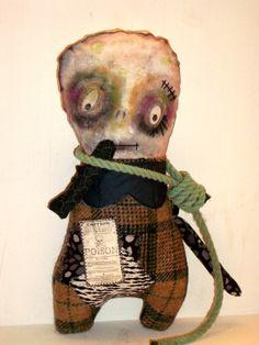 Monster Doll Hugo Painted Art Doll Ghoul by MysticHillsNgaroma, $85.00  https://www.etsy.com/listing/104744820/monster-doll-hugo-painted-art-doll-ghoul