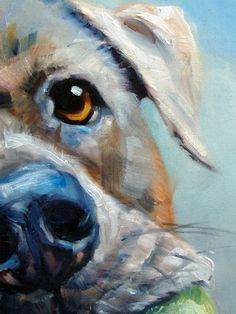 PlayfulPooch custom Pet Portrait Oil Painting by puciPetPortraits