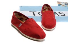 Toms Classic Shoes Womens Red Canvas