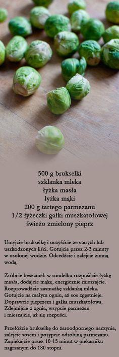 brukselka w sosie beszamelowym