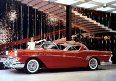 1957 Buick at the General Motors Tech Center See more about Buick, General Motors and Cars. Austin Martin, Cadillac, Vintage Cars, Antique Cars, Retro Cars, Automobile, Buick Envision, Buick Cars, Buick Roadmaster