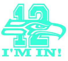 "Seattle Seahawks 12th man ""I'M IN"" Decal Removable Wall Vinyl #Unbranded #SeattleSeahawks"