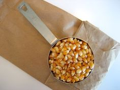 Microwave Popcorn using a brown paper bag and popcorn kernals! That's all! I do this all the time and it works!