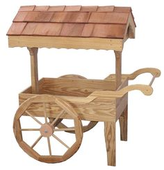Amish Made Wooden Garden Cart
