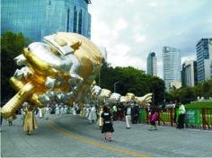 globos de helio para desfile.