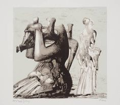 Henry Moore - Mother & Child With Light Background (1976.)