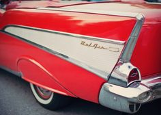 Candy Apple Red Vintage Car Photos Retro by EyePoetryPhotography, $35.00