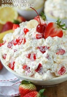 Strawberry Banana Salad - Spend With Pennies