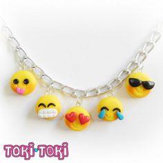 fimo/ polymer clay emoji charm bracelet