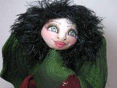 Green Fairy Angel Cloth Art Doll Shelf Sitter by JDFantasyDolls