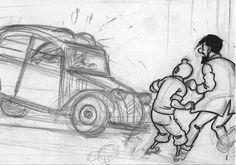Citroën 2CV - Tintin - Hergé