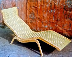 Grant Featherston; Plywood, Cord and Webbing 'Relaxation' Chaise Longue, 1949.
