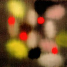 ross bleckner. Love how the red stands out.