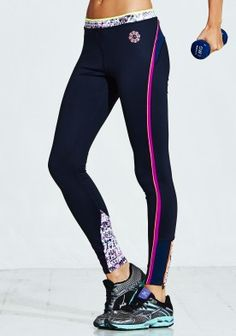 Bold Mesh Panel Colour Pop Tight - ElleSport running performance sports