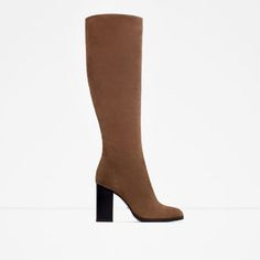 Image 1 of HIGH HEEL LEATHER BOOTS from Zara