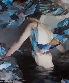 "MEGHAN HOWLAND, ""Gathering Storm"", oil on canvas, 122x100 cm., 2016. (Nancy Margolis Gallery)"