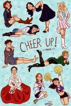 Twice cheer up fanart Nayeon, Signal Twice, Meme Photo, Kpop Posters, Twice Fanart, Kpop Drawings, Twice Jihyo, Doja Cat, Fun Songs