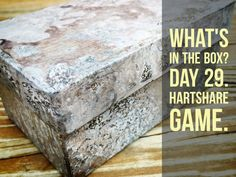 """Day 29 """"What's in the Box?"""" hARTshare FB Game. Come play with us at…"""