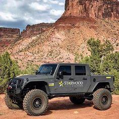 Jeep Wrangler Pickup, Jeep Pickup Truck, Jeep Rubicon, Jeep Jl, Jeep Cars, Custom Jeep, Custom Trucks, Jeep Photos, New Luxury Cars