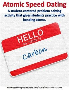 NGSS Next Generation Science activity | atoms and bonding | problem solving | student-centered