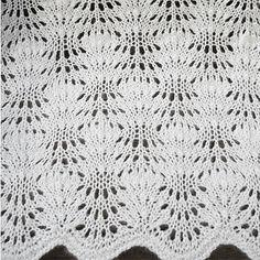 ажурный шарф спицами схема