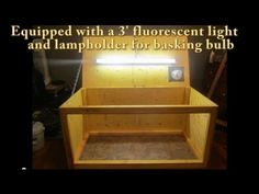 video tutorial on how to build a reptile cage.