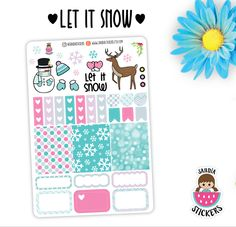 Let it snow Planner Stickers, Winter Stickers, perfect for Planners, Erin Condren, Plum Paper, Happy Planner, Filofax, Kikki.k... by SandiaStickers on Etsy