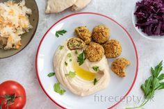 Pečený falafel s hummusom Falafel, Hummus, Smoothies, Food And Drink, Eggs, Healthy, Breakfast, Smoothie, Morning Coffee