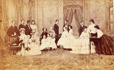 Elisabeth met familie.