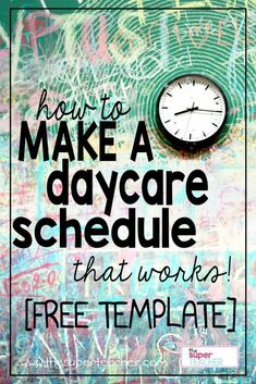 A daycare schedule is so important for your day to go smoothly!  This is a sample schedule and free template.  It even goes into the reasons why each activity is scheduled when it is.  Check it out!