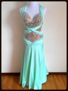 Mint Julep — Dazzle Dance Dress Rentals - Ballroom Dress Rentals - Latin, Rhythm, Smooth and Standard Ballroom Dresses| Rent this dress and outshine everyone!