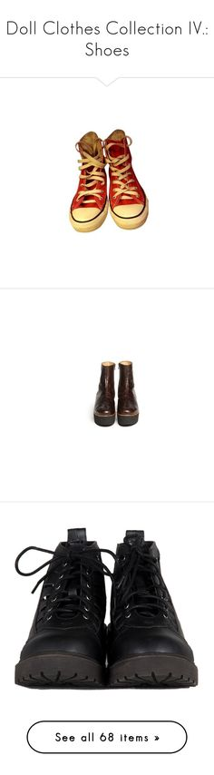 """""""Doll Clothes Collection IV.: Shoes"""" by heymishiehere ❤ liked on Polyvore featuring shoes, sneakers, red, shoes - sneakers, red sneakers, converse sneakers, red trainers, converse footwear, converse shoes and boots"""